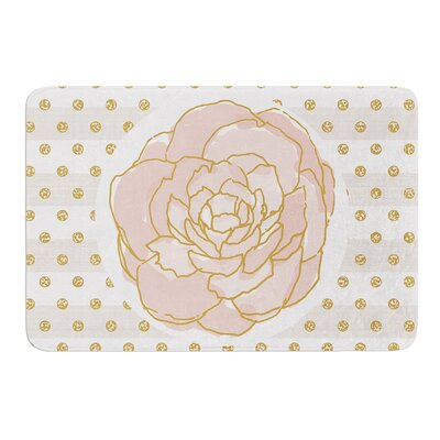 Watercolor Peony by Pellerina Design Bath Mat Size: 17W x 24L