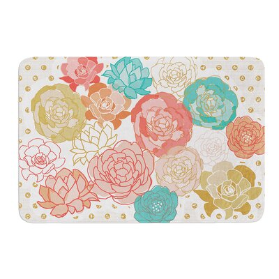 Spring Florals by Pellerina Design Bath Mat Size: 17W x 24L