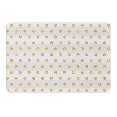 Linen Polka Stripes by Pellerina Design Bath Mat Size: 24 W x 36 L