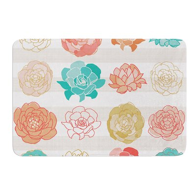 Flower Square by Pellerina Design Bath Mat Size: 17W x 24L