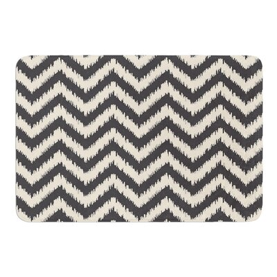 Moonrise Chevron ikat by Amanda Lane Bath Mat Size: 17W x 24L