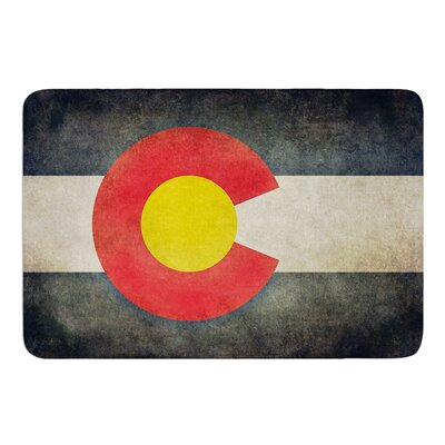 State Flag of Colorado by Bruce Stanfield Bath Mat Size: 24 W x 36 L