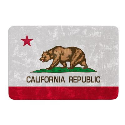 California Flag by Bruce Stanfield Bath Mat Size: 24 W x 36 L