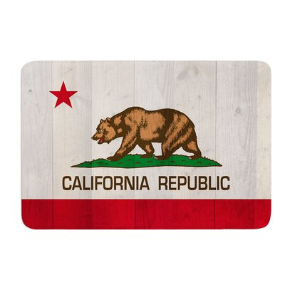 California Flag Wood by Bruce Stanfield Bath Mat Size: 17W x 24L