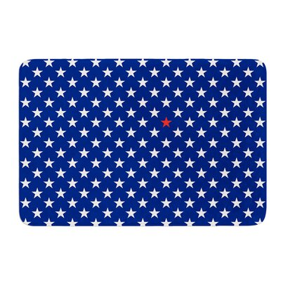 Star by Bruce Stanfield Bath Mat Size: 17W x 24L