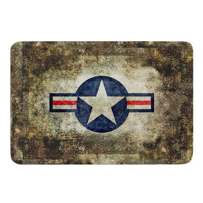 USAF Vintage Retro Style Round by Bruce Stanfield Bath Mat