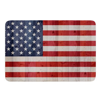 USA Flag On Spruce by Bruce Stanfield Bath Mat