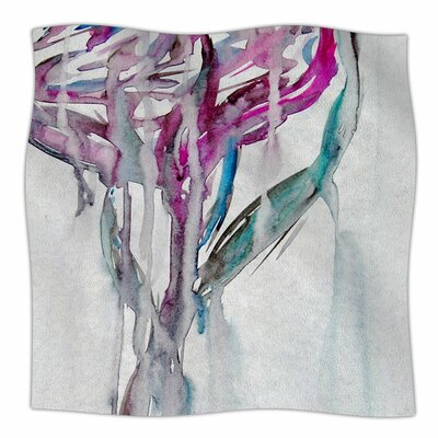 Lovely Watercolor Flower by Malia Shields Fleece Blanket