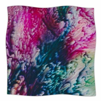 Splash Abstract Ink by Malia Shields Fleece Blanket