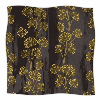 Textured Floral Elegance by Neelam Kaur Fleece Blanket