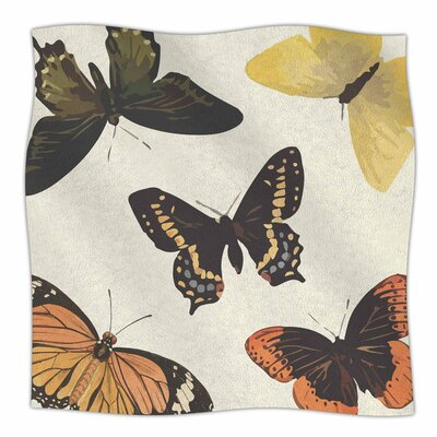Vintage Butterflies by NL Designs Fleece Blanket