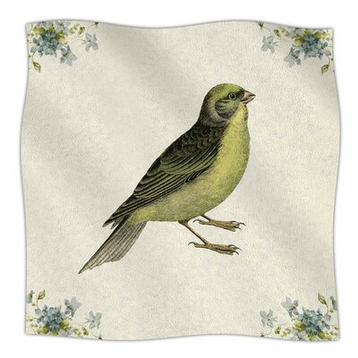 Vintage Bird 2 by NL Designs Fleece Blanket