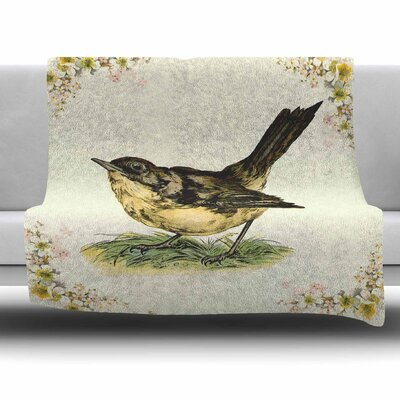 Vintage Bird by NL Designs Fleece Blanket