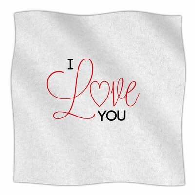 I Love You by NL Designs Fleece Blanket