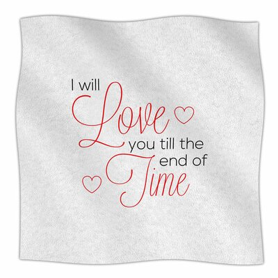 I Will Love You by NL Designs Fleece Blanket