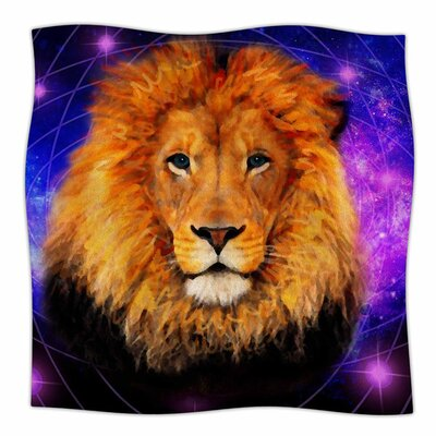 Space Lion by NL Designs Fleece Blanket