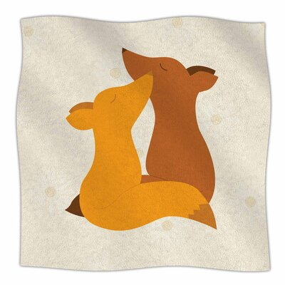 Foxy Love by NL Designs Fleece Blanket