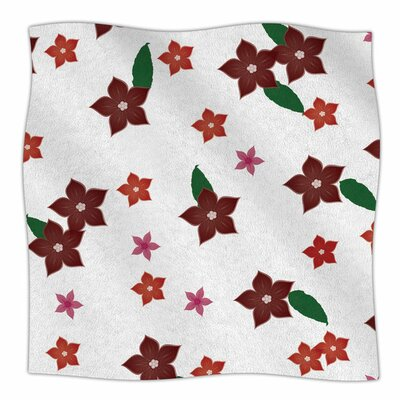 Holiday Floral by NL Designs Fleece Blanket