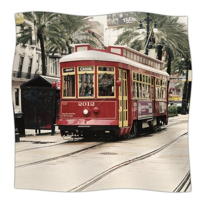Canal Street Car by Sylvia Cook Fleece Blanket