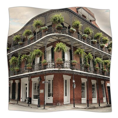 New Orleans Street Corner by Sylvia Cook Fleece Blanket