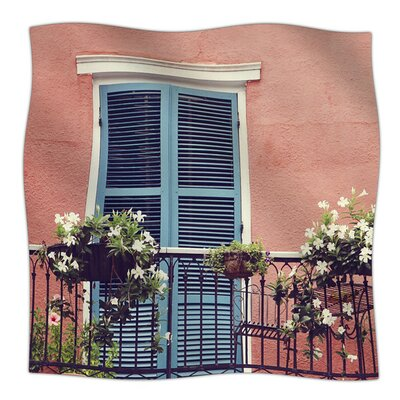 New Orleans Balcony by Sylvia Cook Fleece Blanket