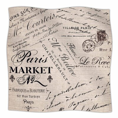 French Script by Sylvia Cook Fleece Blanket
