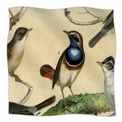 Vintage Birds by Suzanne Carter Fleece Blanket