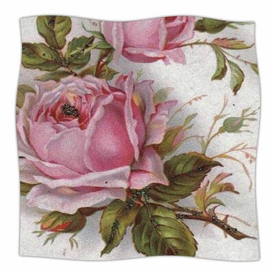 Vintage Rose by Suzanne Carter Fleece Blanket