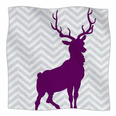Chevron Deer by Suzanne Carter Fleece Blanket