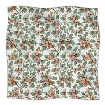 Vintage Flowers by Suzanne Carter Fleece Blanket