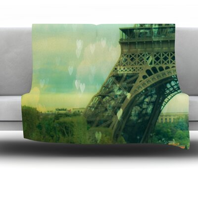 Paris Dreams by Ann Barnes Fleece Blanket