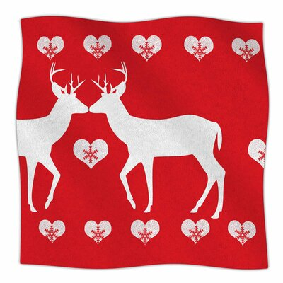 Christmas Deer 2 by Suzanne Carter Fleece Blanket