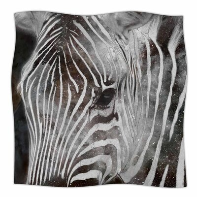 Space Zebra by Suzanne Carter Fleece Blanket