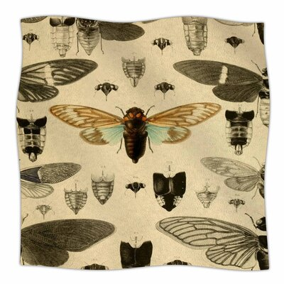 Vintage Cicada by Suzanne Carter Fleece Blanket