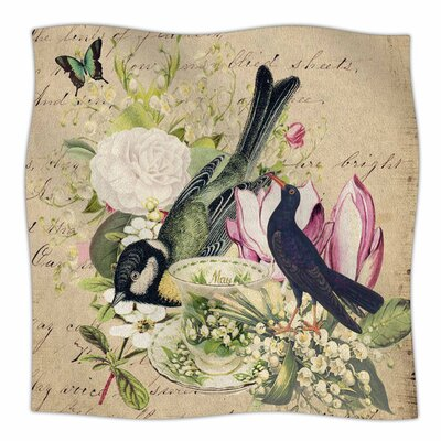 Vintage Tea by Suzanne Carter Fleece Blanket Size: 40 L x 30 W