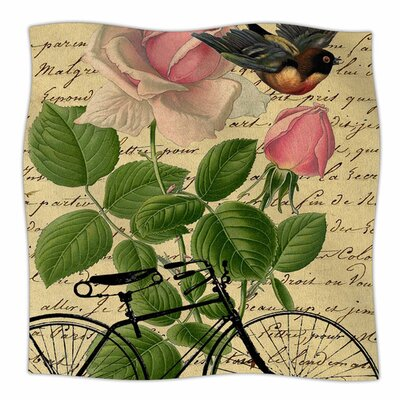 Vintage Cycle by Suzanne Carter Fleece Blanket