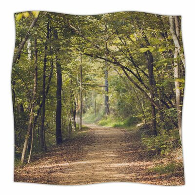 Forest Light by Ann Barnes Fleece Blanket Size: 80 L x 60 W