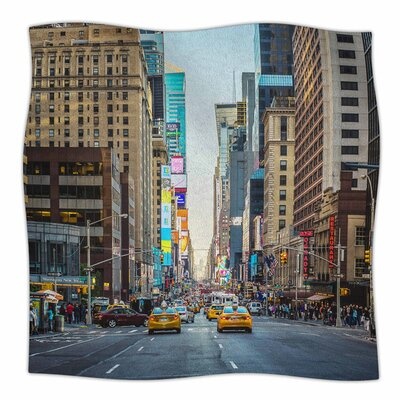 Sunset Over 7Th by Ann Barnes Fleece Blanket Size: 60 L x 50 W