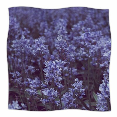 Bluebell Forest by Ann Barnes Fleece Blanket