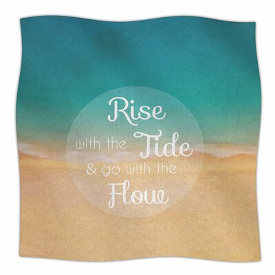 Rise with the Tide by Alison Coxon Fleece Blanket