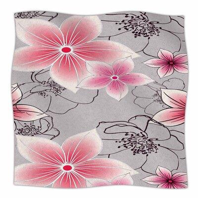 Floral by Alison Coxon Fleece Blanket
