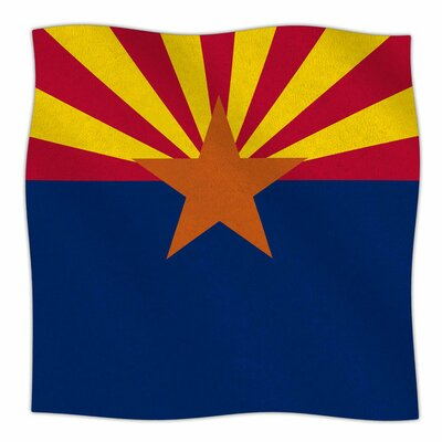 Flag Of Arizona by Bruce Stanfield Fleece Blanket Size: 80 L x 60 W