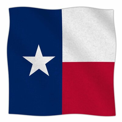Flag of Texas by Bruce Stanfield Fleece Blanket Size: 80 L x 60 W