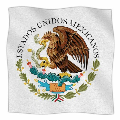 Mexico Emblem by Bruce Stanfield Fleece Blanket Size: 80 L x 60 W