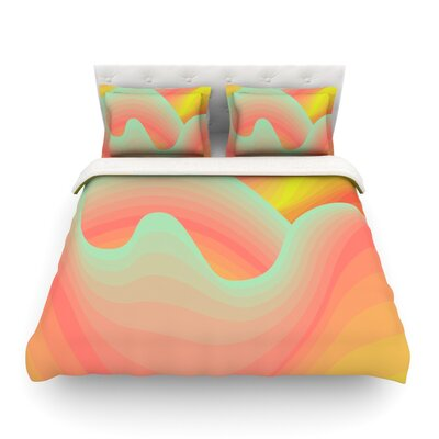 Way of the Waves by Akwaflorell Featherweight Duvet Cover Size: King