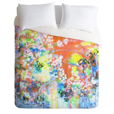 Coral Delight by Laura Trevey Lightweight Duvet Cover Size: King