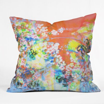 Coral Delight Outdoor by Laura Trevey Throw Pillow Size: 26 H x 26 W x 7 D