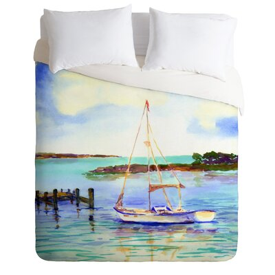 Summer Sail by Laura Trevey Lightweight Duvet Cover Size: King