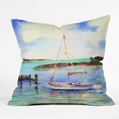 Summer Sail by Laura Trevey Throw Pillow Size: 20 H x 20 W x 6 D