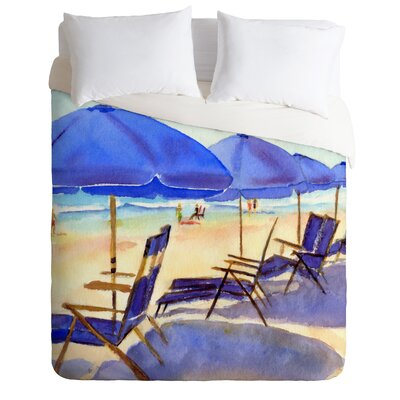 Beach Chairs by Laura Trevey Lightweight Duvet Cover Size: Queen